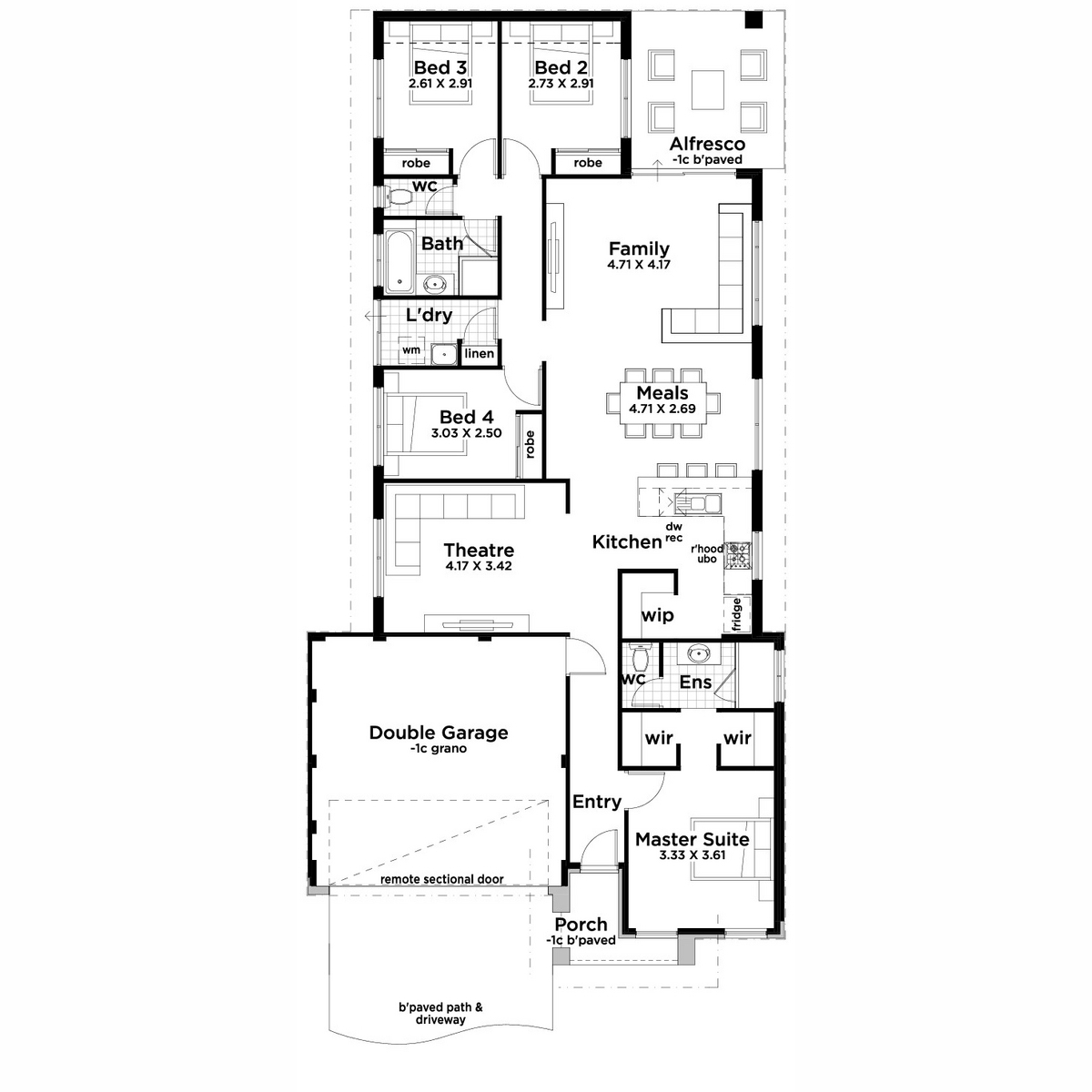 Lot 577 Setosa Drive, Forrestfield - Floorplan - Aussie Living Homes